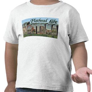 Lago de cabeza llana, Montana - escenas grandes de Camiseta