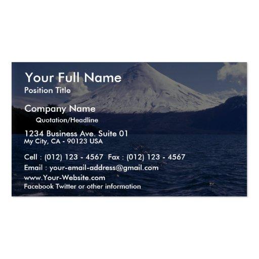 Lago del volcán de Osorno y Todo Los Santos, Chile Tarjetas De Visita