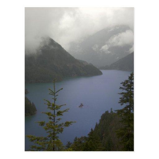 Lago diablo - cascadas del norte postales