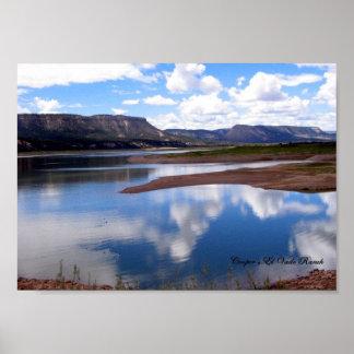 Lago el Vado, New México Póster