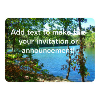 Lago enselvado wilderness invitación 12,7 x 17,8 cm