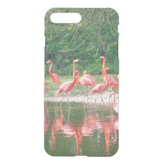 Lago flamingos, pájaros de la fauna, iPhone Funda Para iPhone 7 Plus