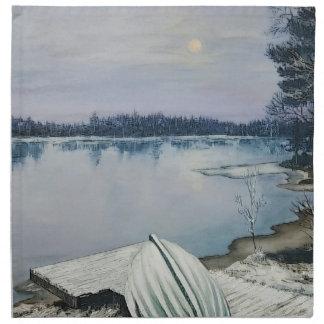 Lago forest servilleta de tela