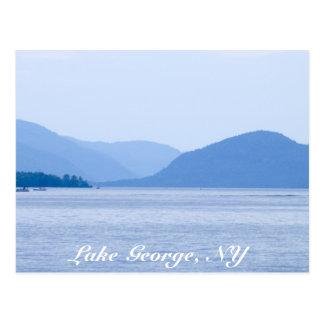 Lago George, postal de la N.Y. - modificada para