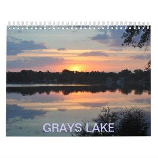 Lago grays calendarios de pared