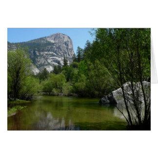 Lago I mirror en el parque nacional de Yosemite Tarjeta De Felicitación