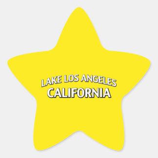 Lago Los Ángeles California Calcomania Cuadrada Personalizada