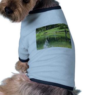 Lago mountain camiseta con mangas para perro