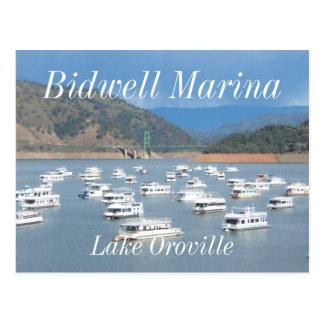 Lago Oroville, puerto deportivo de Bidwell Tarjeta Postal