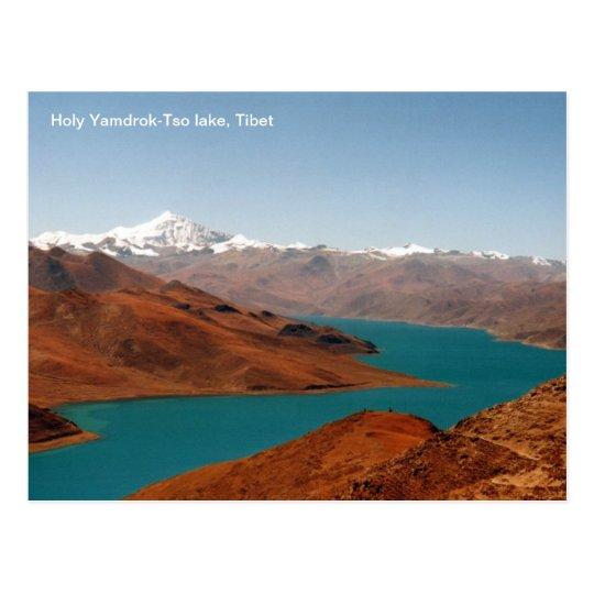 Lago santo Yamdrok-TSO, Tíbet de la postal de la