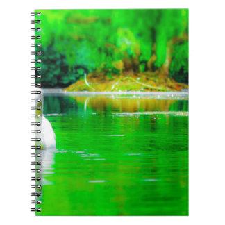 Lago swan cuaderno