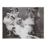 Lago swan, teatro de Mariinsky, 1895 (foto de b/w) Postal