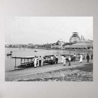 Lago Wesley, parque de Asbury: 1901 Póster