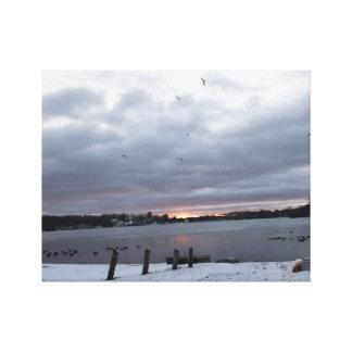 Lago Winnemaug photograph de Winterart Lienzo