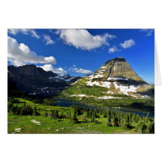 Lago y montaña ocultados de Bearhat Tarjeta De Felicitación