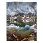 Lago y pináculos 2 Kearsarge - Sierra Nevada Tarjeta De Felicitación Grande