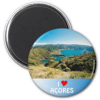 Lagoa hace Fogo, Azores Imán Redondo 5 Cm