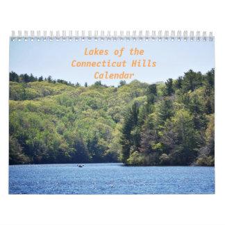 Lagos del calendario de las colinas de Connecticut