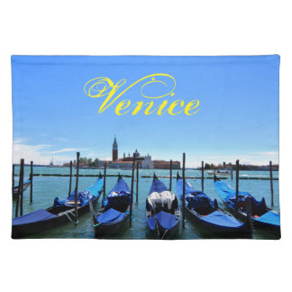 Laguna azul en Venecia, Italia Salvamanteles