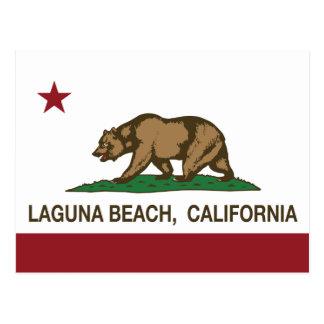 Laguna Beach de la bandera del estado de Postal