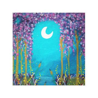 Laguna de la luna lienzo