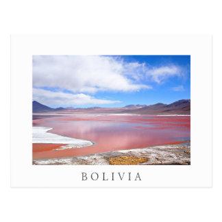 Laguna roja, postal del blanco de Laguna Colorada