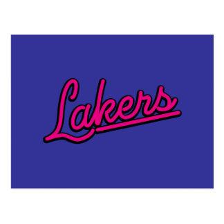 Lakers en magenta postal