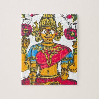 Lakshmi/Shridebi en actitud de la meditación Puzzle