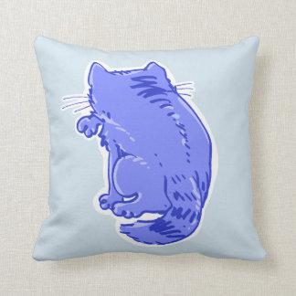 lamedura del dibujo animado del dulce del gato de cojín decorativo