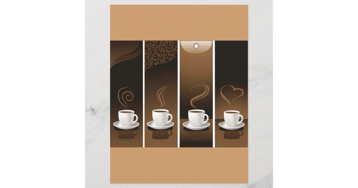 Lámina 4 Tazas De Café En Vector