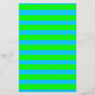 Lámina Verde lima de neón y rayas azules verde azuladas