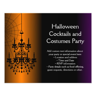 Lámpara anaranjada/negra de Halloween Tarjetones