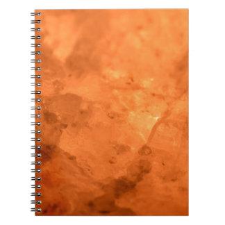 Lámpara de la sal de roca cuaderno