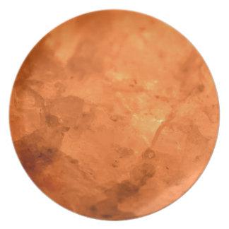 Lámpara de la sal de roca plato