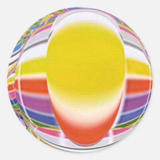 Lámpara de resplandor mágica pegatina redonda