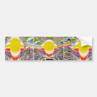 Lámpara de resplandor mágica etiqueta de parachoque