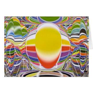 Lámpara de resplandor mágica tarjeta de felicitación