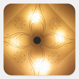 Lámpara del techo - cuadrado con 4 luces pegatina cuadrada