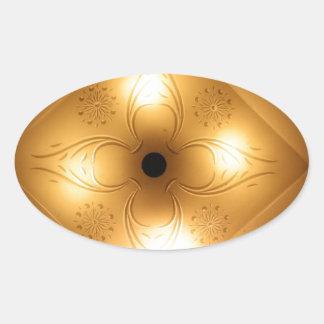 Lámpara del techo - cuadrado con 4 luces pegatina ovalada