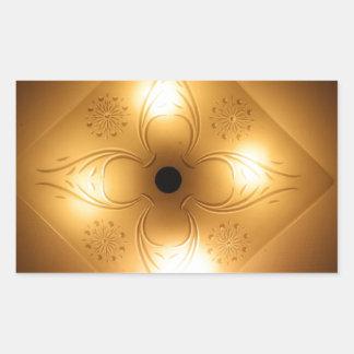 Lámpara del techo - cuadrado con 4 luces pegatina rectangular