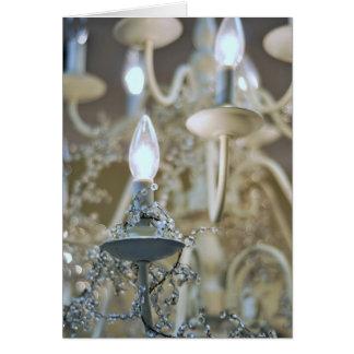 Lámpara, luz y vidrio, saludando tarjeta