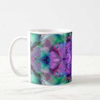 Lámpara mágica 4 que brilla intensamente abstracta taza básica blanca