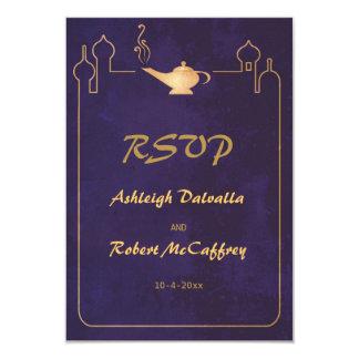 Lámpara mágica árabe que casa las tarjetas de RSVP Invitación 8,9 X 12,7 Cm