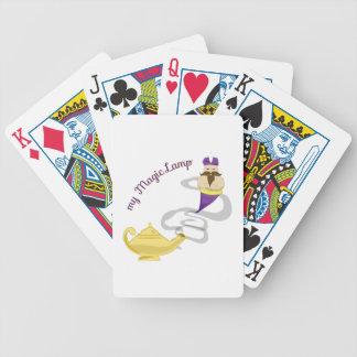 Lámpara mágica baraja cartas de poker
