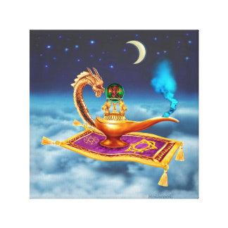 Lámpara mágica del dragón lona estirada galerias