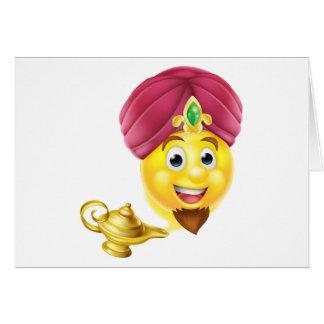 Lámpara mágica Emoji de los genios Tarjeta De Felicitación