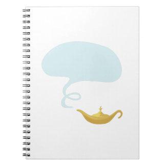 Lámpara mágica cuaderno