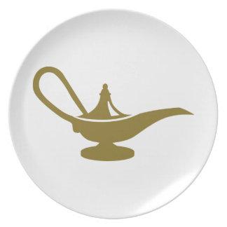 Lámpara mágica plato para fiesta