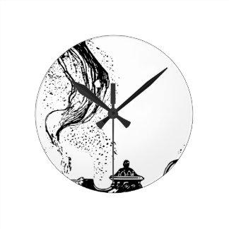 Lámpara mágica reloj redondo mediano