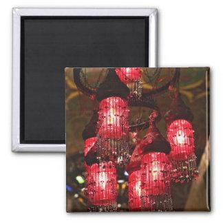 Lámpara para la venta, bazar del EL Khalili de Kha Imanes